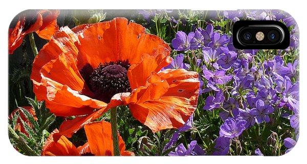 Orange Flowers IPhone Case