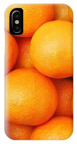 Orange Geometry IPhone Case