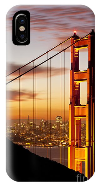 IPhone Case featuring the photograph Orange Light At Dawn by Brian Jannsen