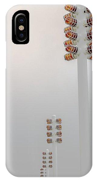 Orange Lights And Fog Phone Case by Studio Janney