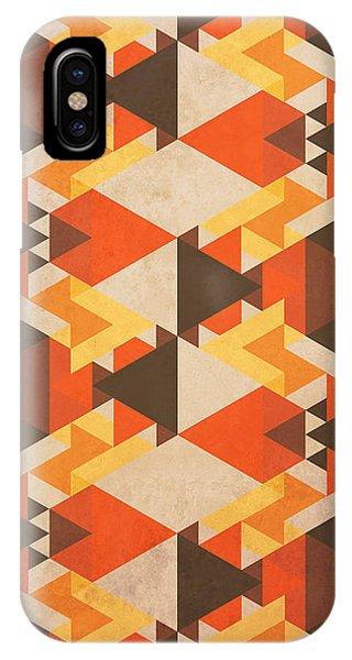Tribal iPhone Case - Orange Maze by Vess DSign
