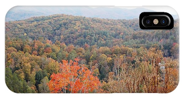 Orange Mountain Range Phone Case by Regina McLeroy