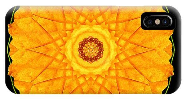 Orange Nasturtium Flower Mandala IPhone Case