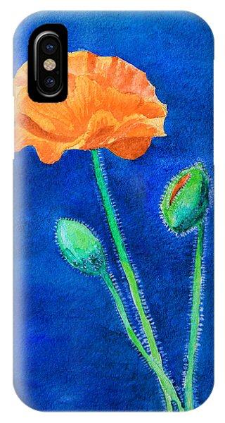Orange Poppy IPhone Case