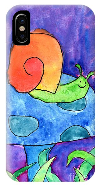 Orange Snail IPhone Case