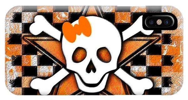 Orange Star Skull IPhone Case