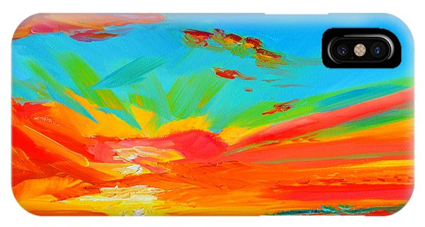 Orange Sunset Landscape IPhone Case