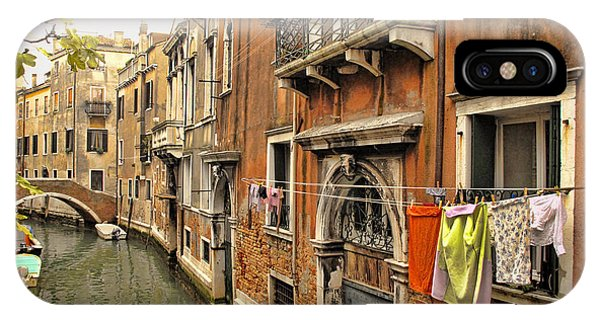 Orange Towel Venice Canal IPhone Case