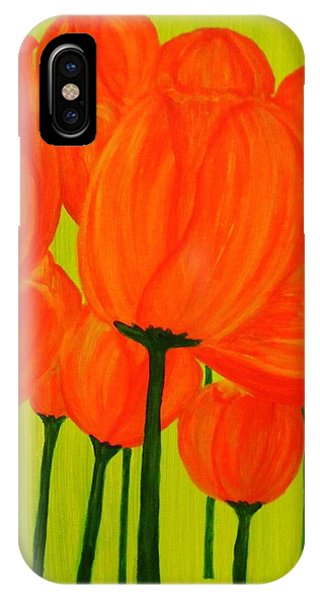 Orange Tulip Pops IPhone Case