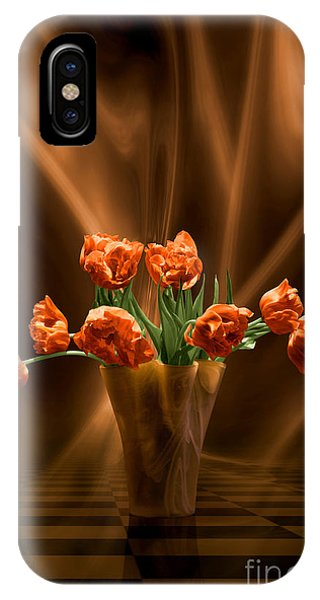 Orange Tulips In Floating Room IPhone Case