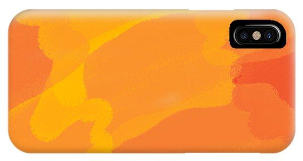 Orange Yellow Abstract IPhone Case