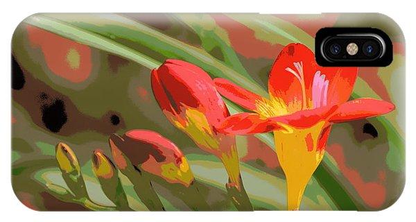 Orange Yellow Freesia 1 Phone Case by Sheri McLeroy