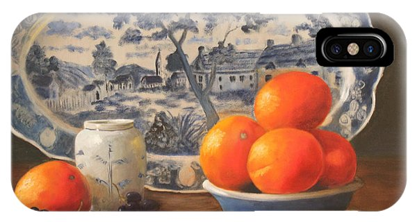 iPhone Case - Oranges And Platter by Karen Langley