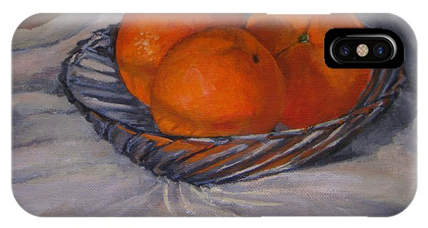 Oranges In A Swirly Bowl IPhone Case