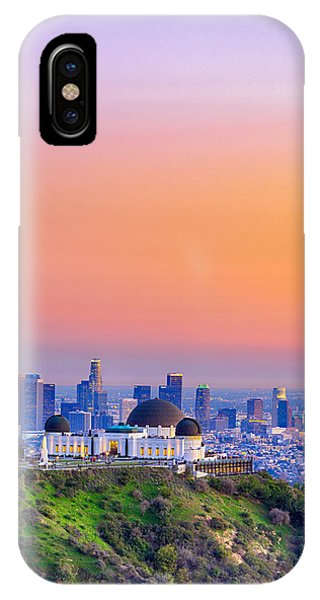 Orangesicle Griffith Observatory IPhone Case
