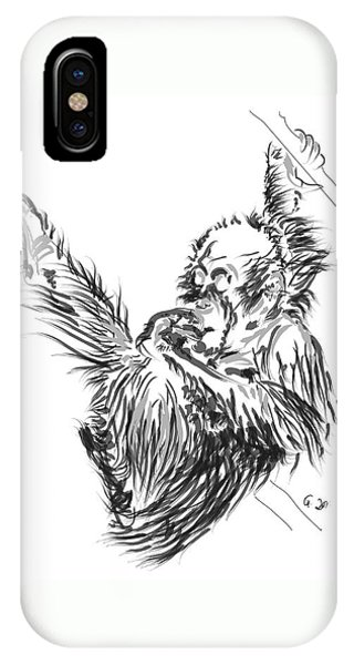 Orangutan Baby 2 IPhone Case