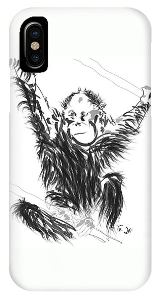 Orangutan Baby IPhone Case