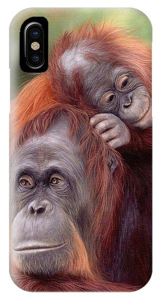 Orangutans Painting IPhone Case