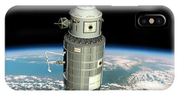 Earth Orbit iPhone Case - Orbital Maintenance Platform by Walter Myers