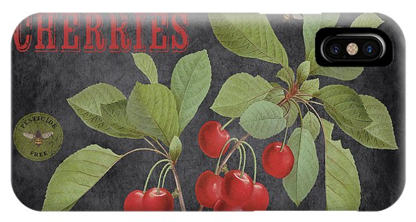 Orchard iPhone Case - Orchard Fresh Cherries-jp2639 by Jean Plout