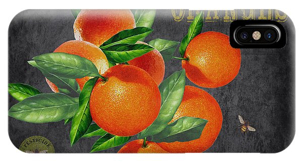 Orchard iPhone Case - Orchard Fresh Oranges-jp2641 by Jean Plout