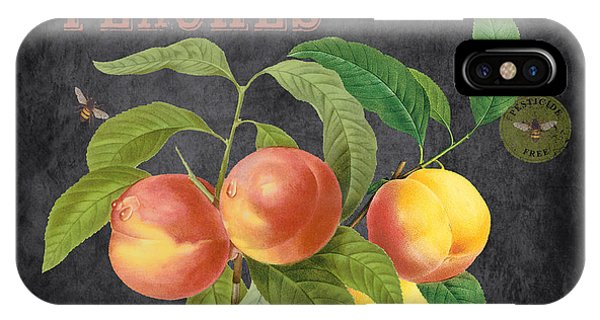Orchard iPhone Case - Orchard Fresh Peaches-jp2640 by Jean Plout