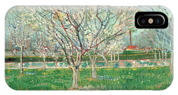 Orchard iPhone Case - Orchard In Blossom, 1880  by Vincent van Gogh