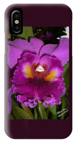 Orchid Flames IPhone Case