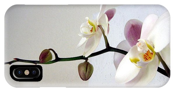 Orchid Coming Out Of Painting IPhone Case