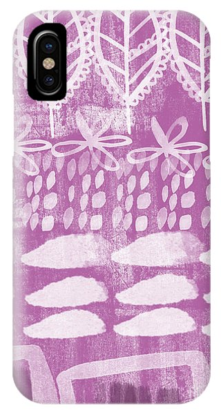 Orchid iPhone X Case - Orchid Fields by Linda Woods