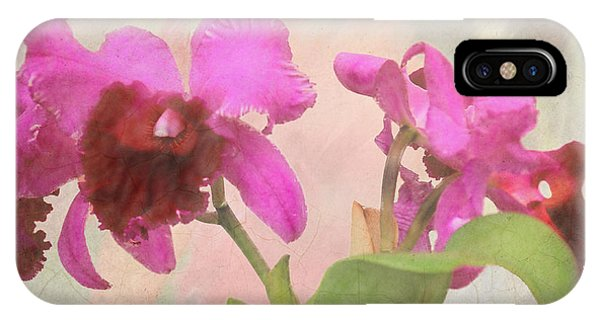 Orchid In Hot Pink IPhone Case
