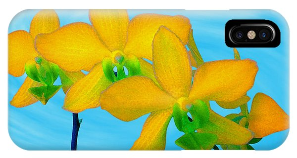 Orchid In Yellow IPhone Case