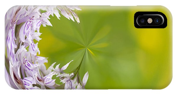 Close Focus Floral iPhone Case - Orchid Moon by Anne Gilbert