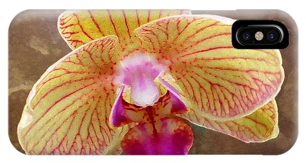 Orchid On Marble IPhone Case