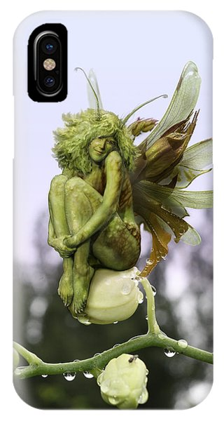 Cassiopeiaart iPhone Case - Orchid Pixie by Cassiopeia Art