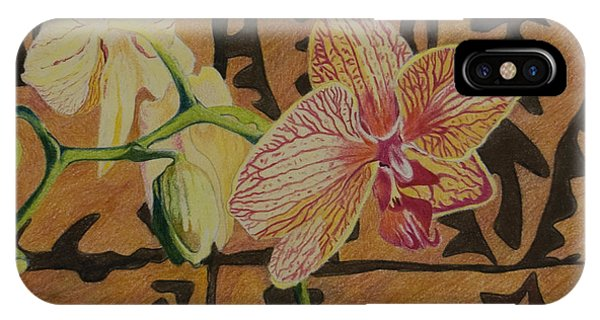 Orchid With Tapa IPhone Case