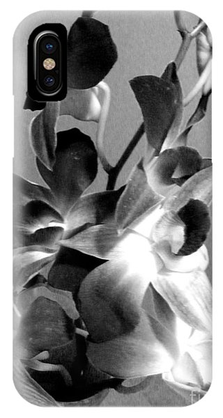 Orchids 2 Bw IPhone Case