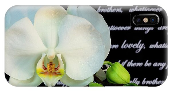 Orchids And Scripture IPhone Case
