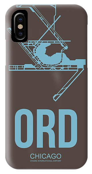 Midwest iPhone Case - Ord Chicago Airport Poster 2 by Naxart Studio