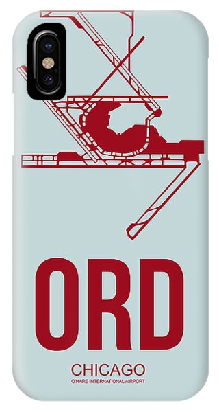 Chicago iPhone Case - Ord Chicago Airport Poster 3 by Naxart Studio