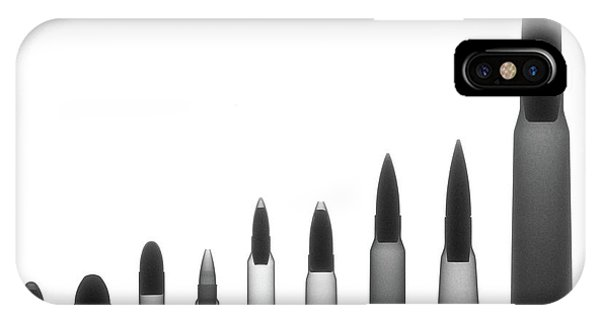 Calico M100 iPhone Case - Ordnance X-ray Photograph by Ray Gunz