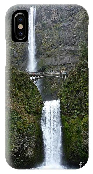 Oregon Long Shot Of  Falls IPhone Case