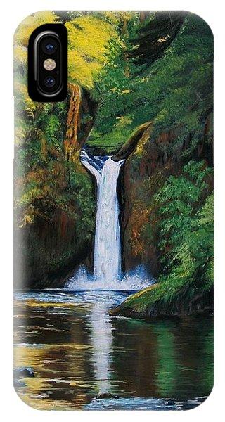 Oregon's Punchbowl Waterfalls IPhone Case