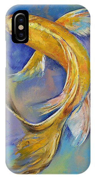 Koi iPhone Case - Orenji Butterfly Koi by Michael Creese