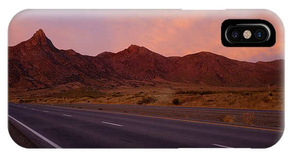 Organ iPhone Case - Organ Mountain Sunrise Highway by Mike  Dawson