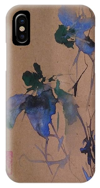 Oriental Blue Louisiana Iris Flower Study  IPhone Case