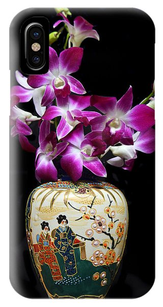 Oriental Orchids. IPhone Case
