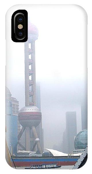 Oriental Pearl Tower Under Fog IPhone Case