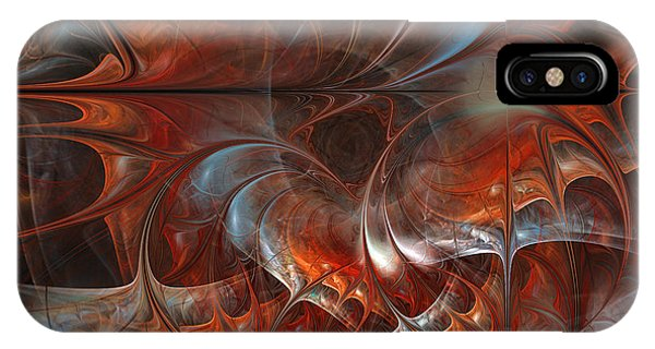 Contemporary Floral iPhone Case - Oriental Sumptuousness-floral Fractal Design by Karin Kuhlmann