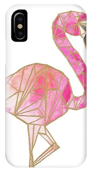 Geo iPhone Case - Origami Flamingo by Nola James